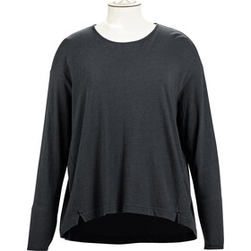 Alchemy Equipment Long Sleeve Pleated Relaxed T-shirt zippé Femme, graphite